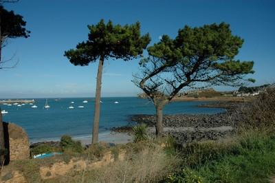 en  Bretagne, la baie de Primel, se déroule sous vos yeux quand vous sortez du jardin.Vous verrez les bateaux de pêche rentrer au petit port du Diben. Au mole:débarquement de poisson frais et des crustacés de la Baie de Morlaix et de la région bretonne